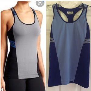 Athleta blue Colorblock Accentuate yoga tank top